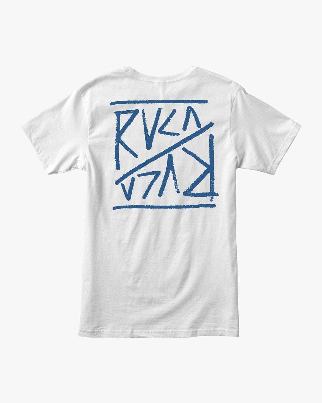 1 Flipper T-Shirt White M401TRFL RVCA