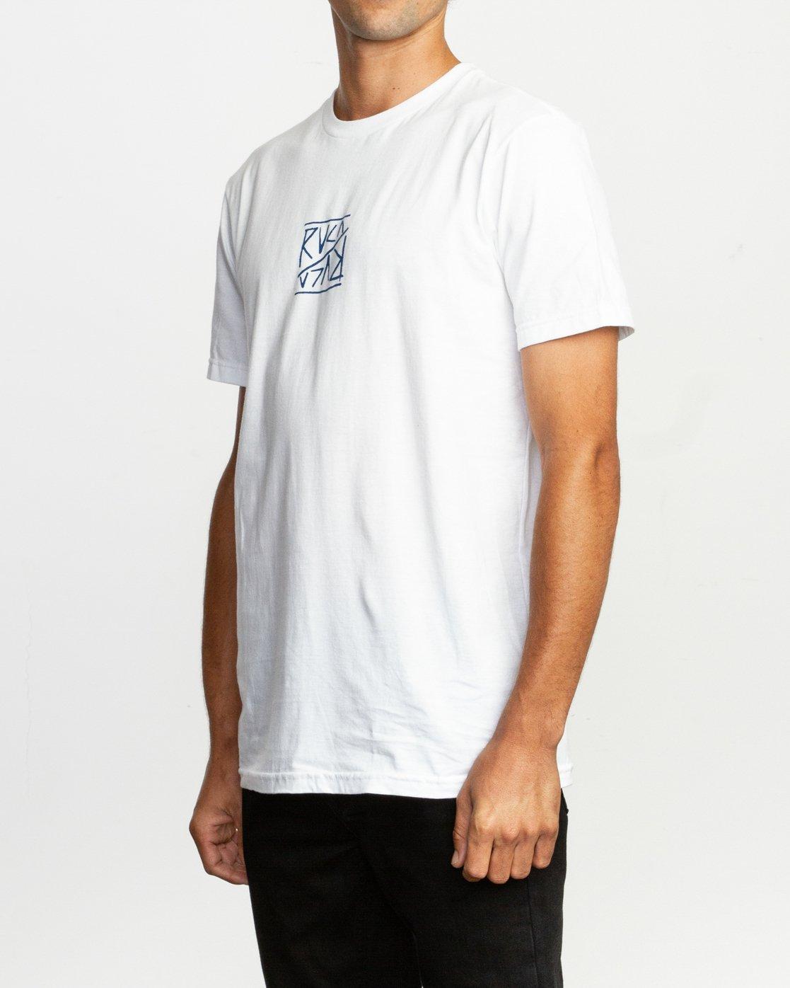 3 Flipper T-Shirt White M401TRFL RVCA