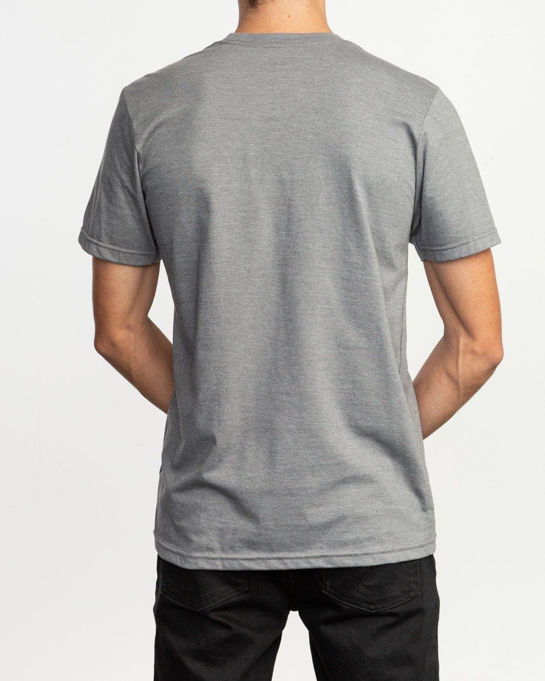 3 Dmote Mascot T-Shirt Grey M401TRMA RVCA