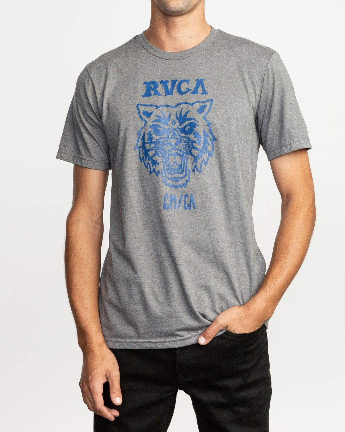 1 Dmote Mascot T-Shirt Grey M401TRMA RVCA