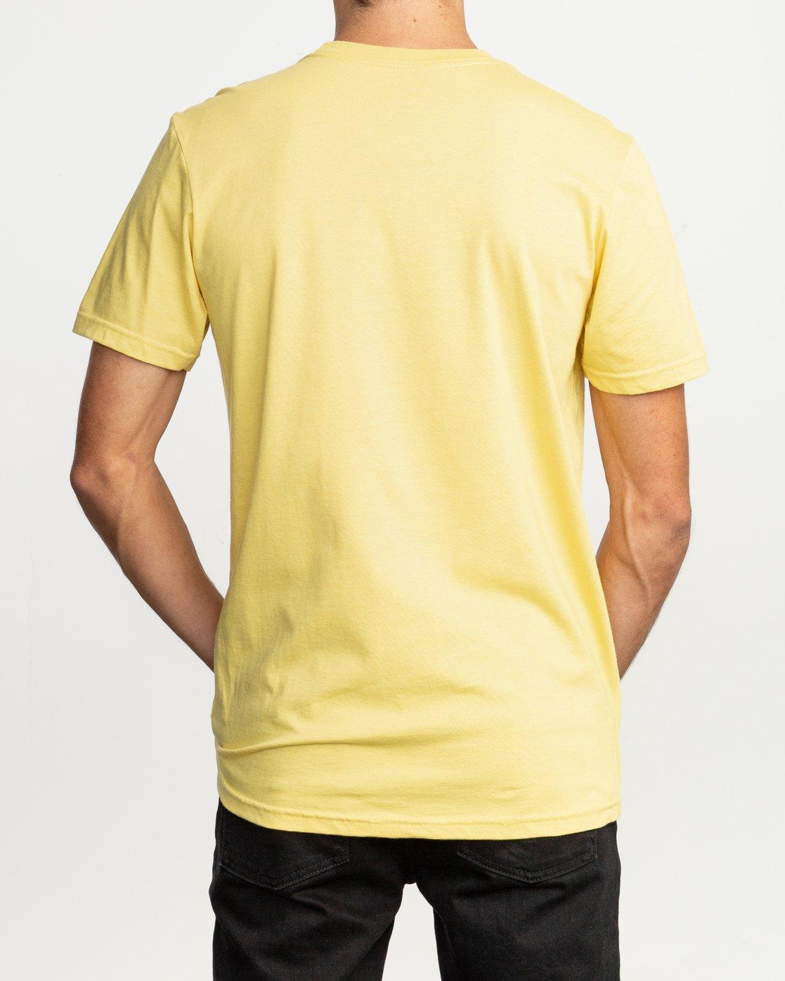 3 Dmote Mascot T-Shirt Yellow M401TRMA RVCA
