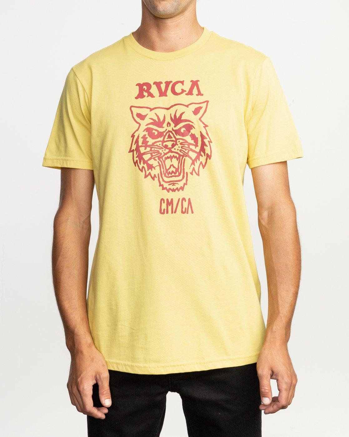 1 Dmote Mascot T-Shirt Yellow M401TRMA RVCA