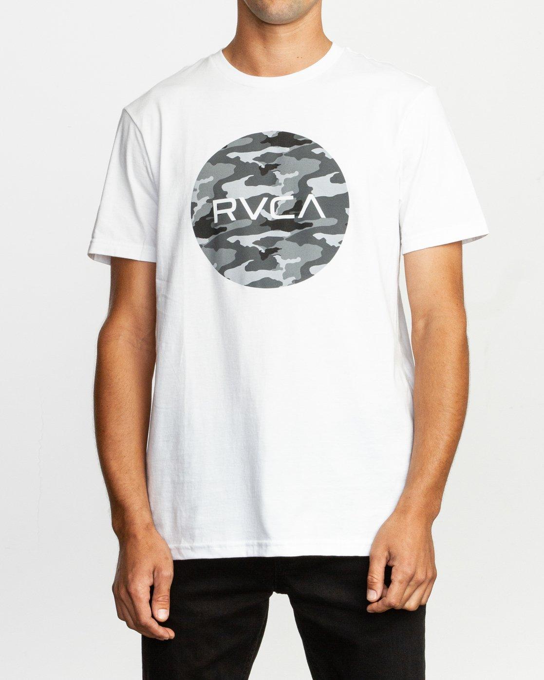 1 Motors Fill T-Shirt White M401TRMO RVCA