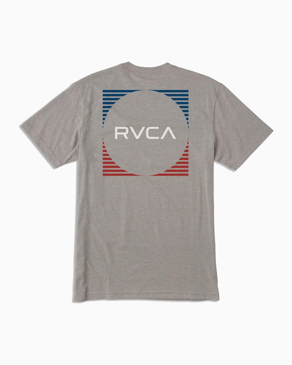 0 Motorstripe T-Shirt Grey M401TRMS RVCA