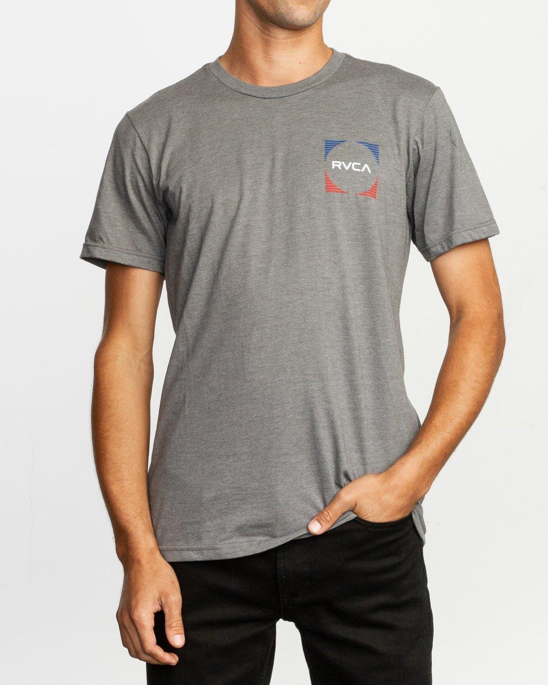 2 Motorstripe T-Shirt Grey M401TRMS RVCA