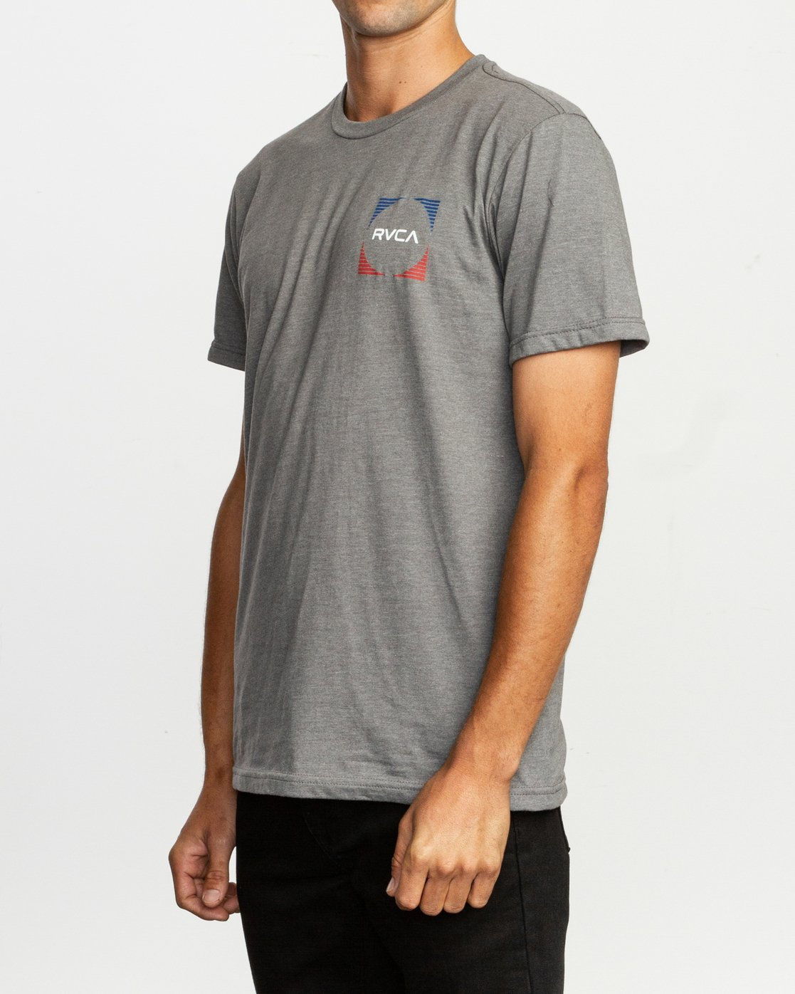 3 Motorstripe T-Shirt Grey M401TRMS RVCA