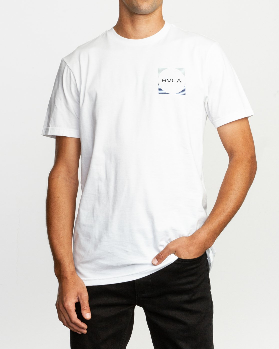 2 Motorstripe T-Shirt White M401TRMS RVCA