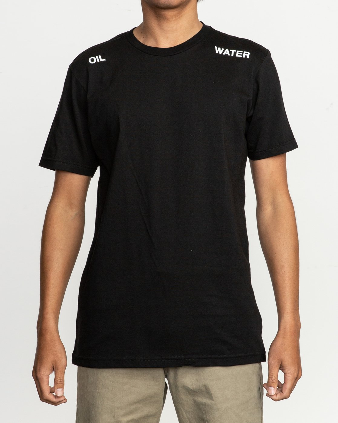 2 Oil And Water T-Shirt Black M401TROI RVCA