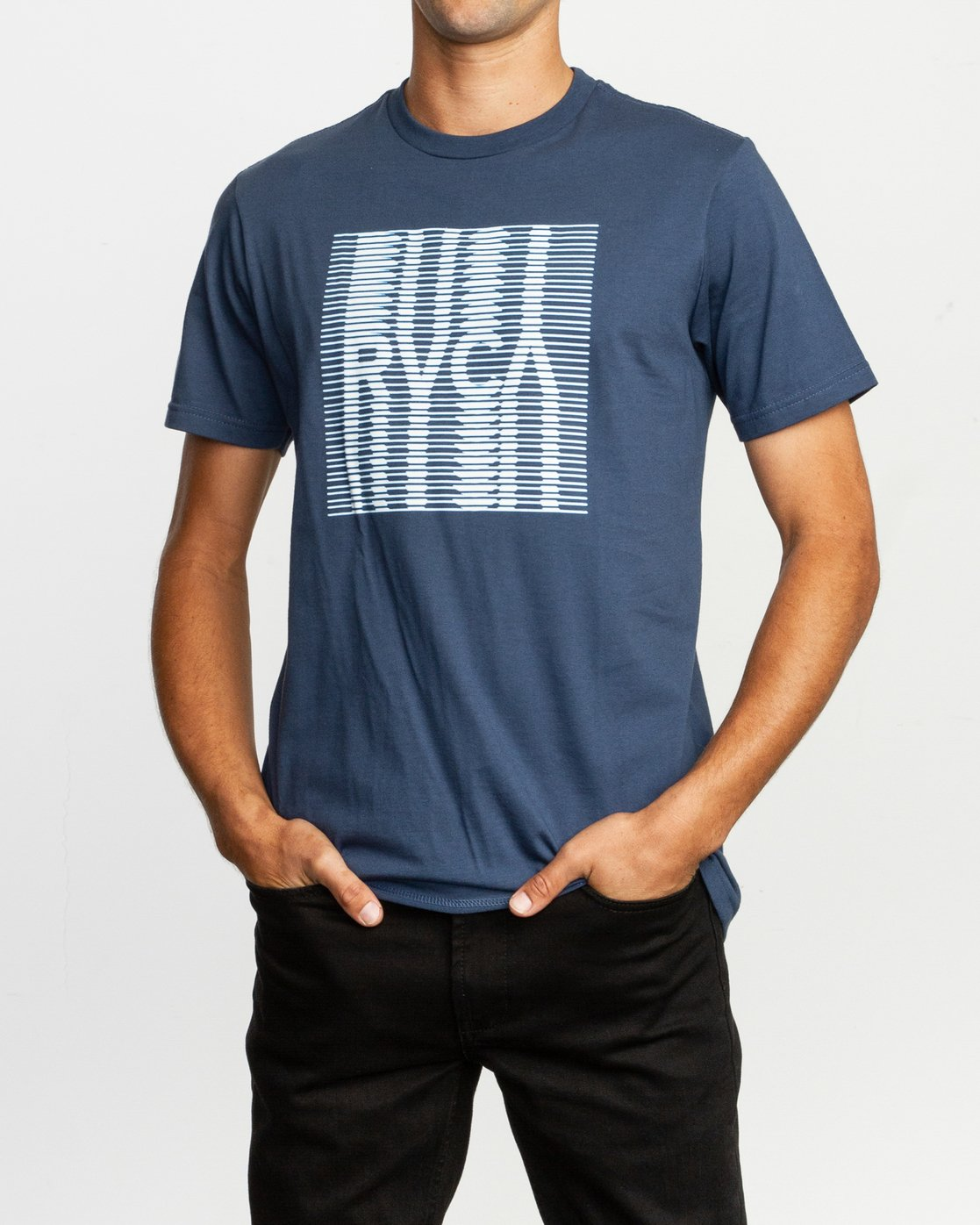 1 Repeated T-Shirt Blue M401TRRE RVCA
