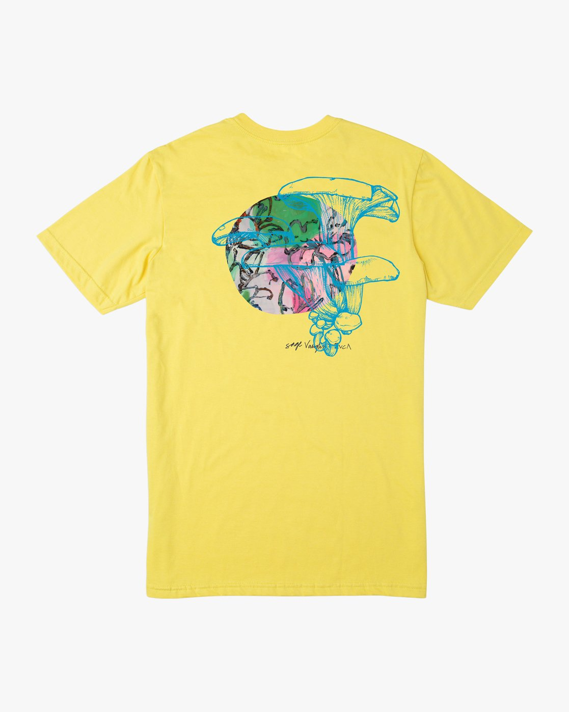 0 Sage Vaughn Shroom Collage T-Shirt Yellow M401TRSH RVCA