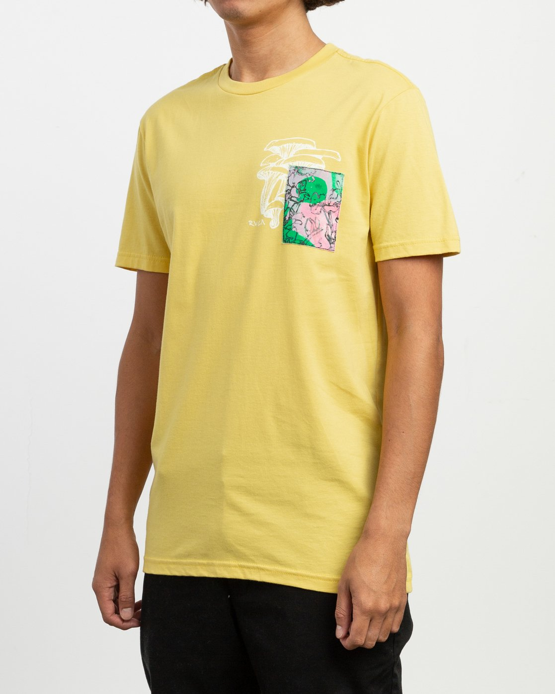 4 Sage Vaughn Shroom Collage T-Shirt Yellow M401TRSH RVCA