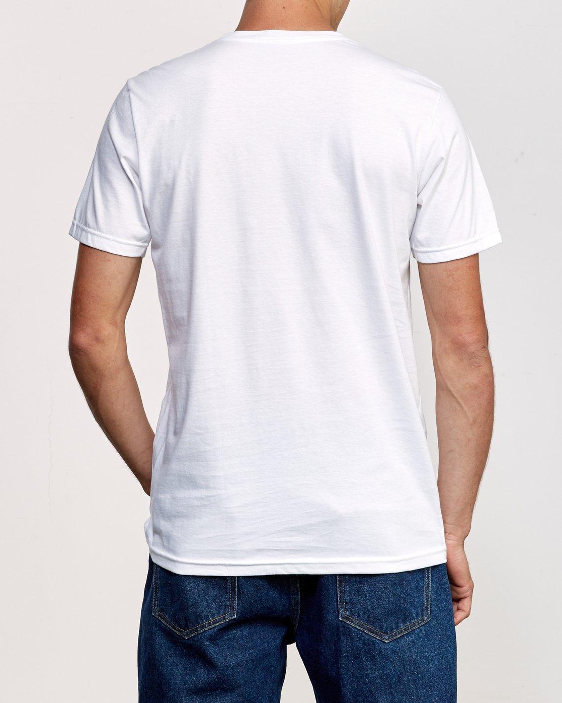 3 ATW Push T-Shirt White M401URAT RVCA