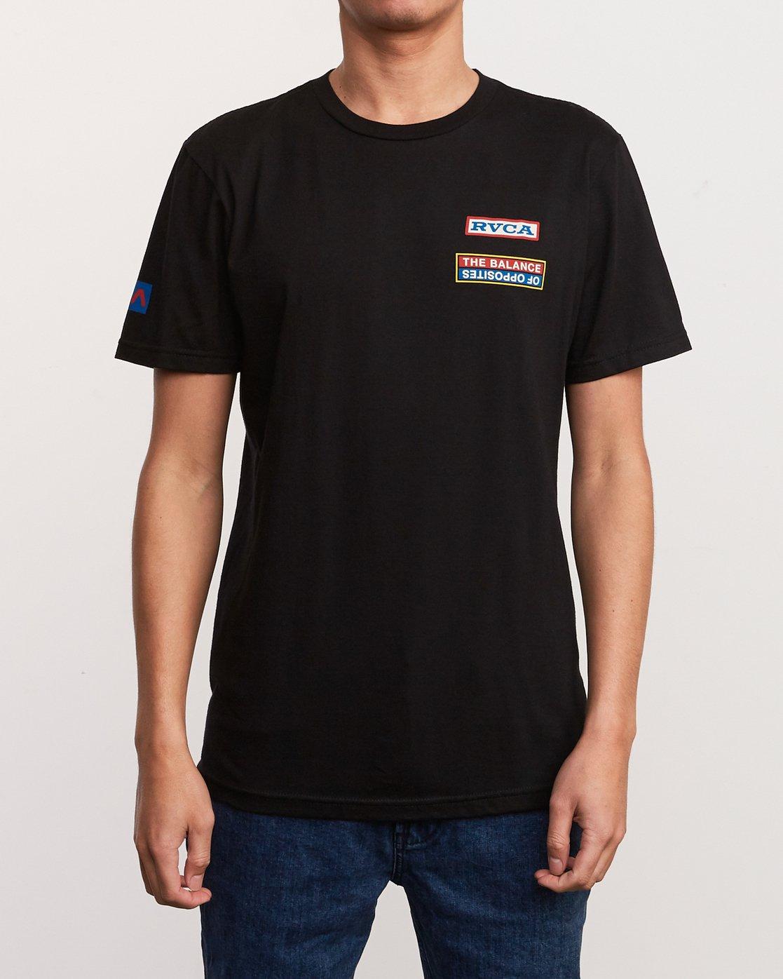 2 Daytona T-Shirt Black M401URDA RVCA