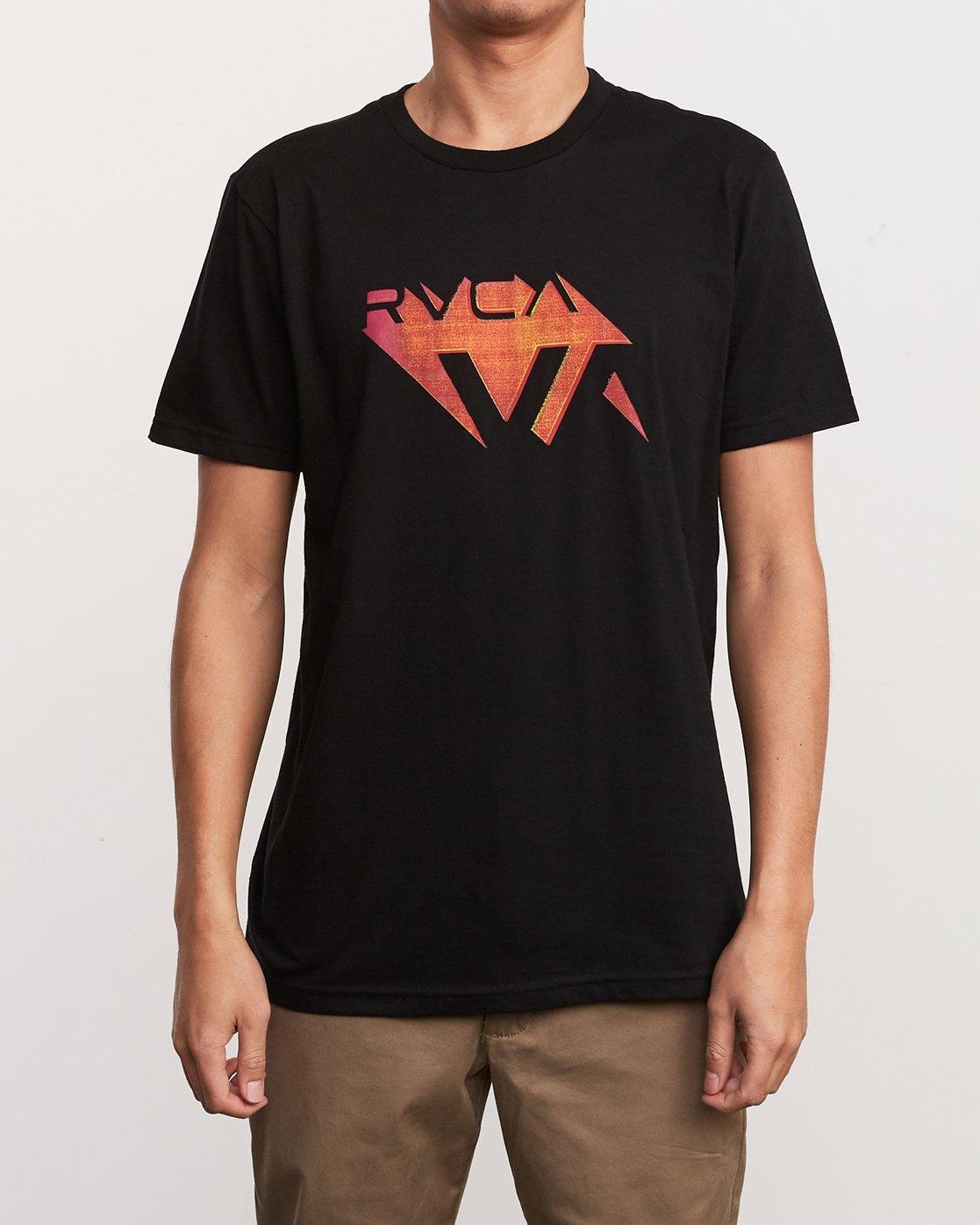 1 3D VA T-Shirt Black M401URDV RVCA