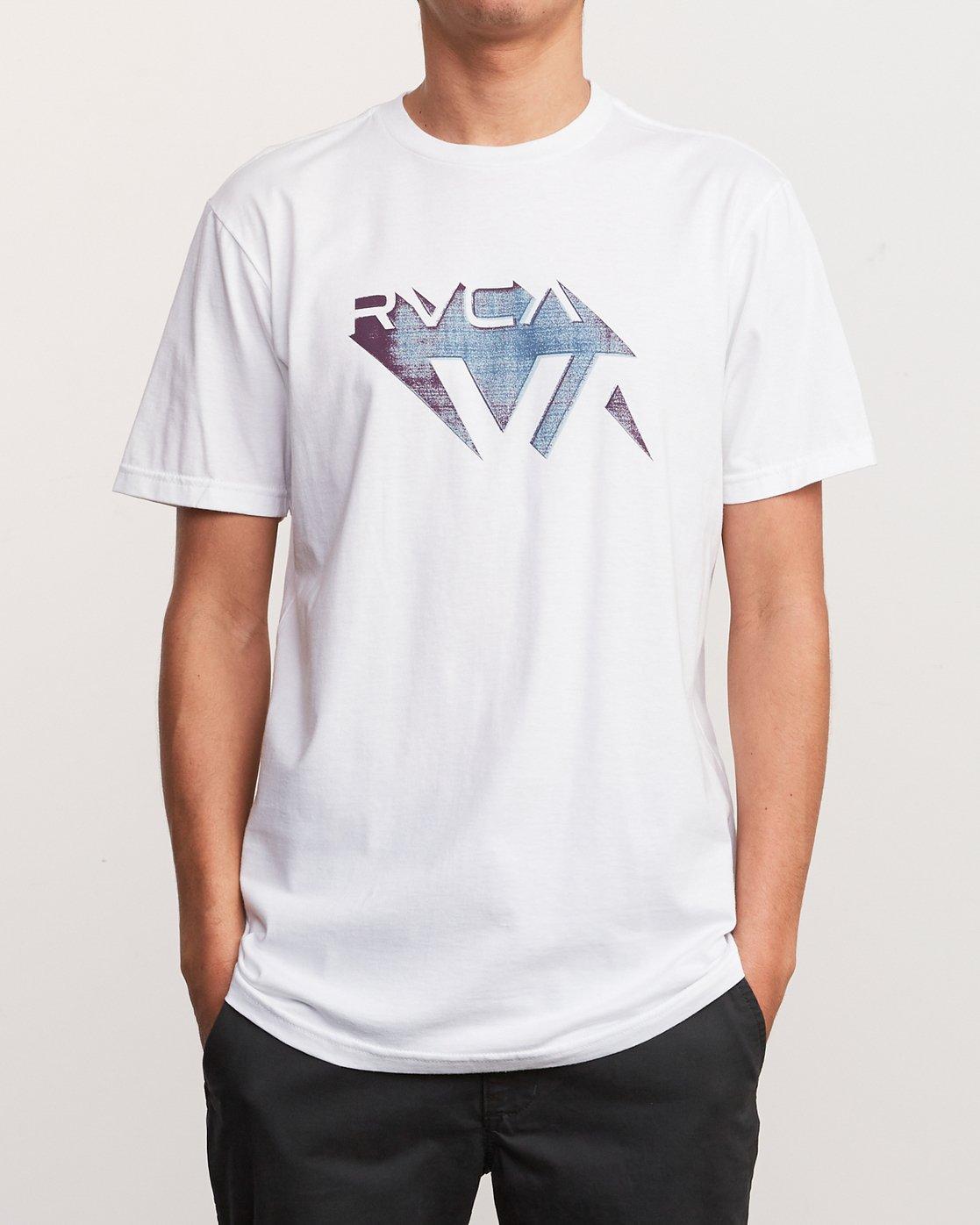 1 3D VA T-Shirt White M401URDV RVCA