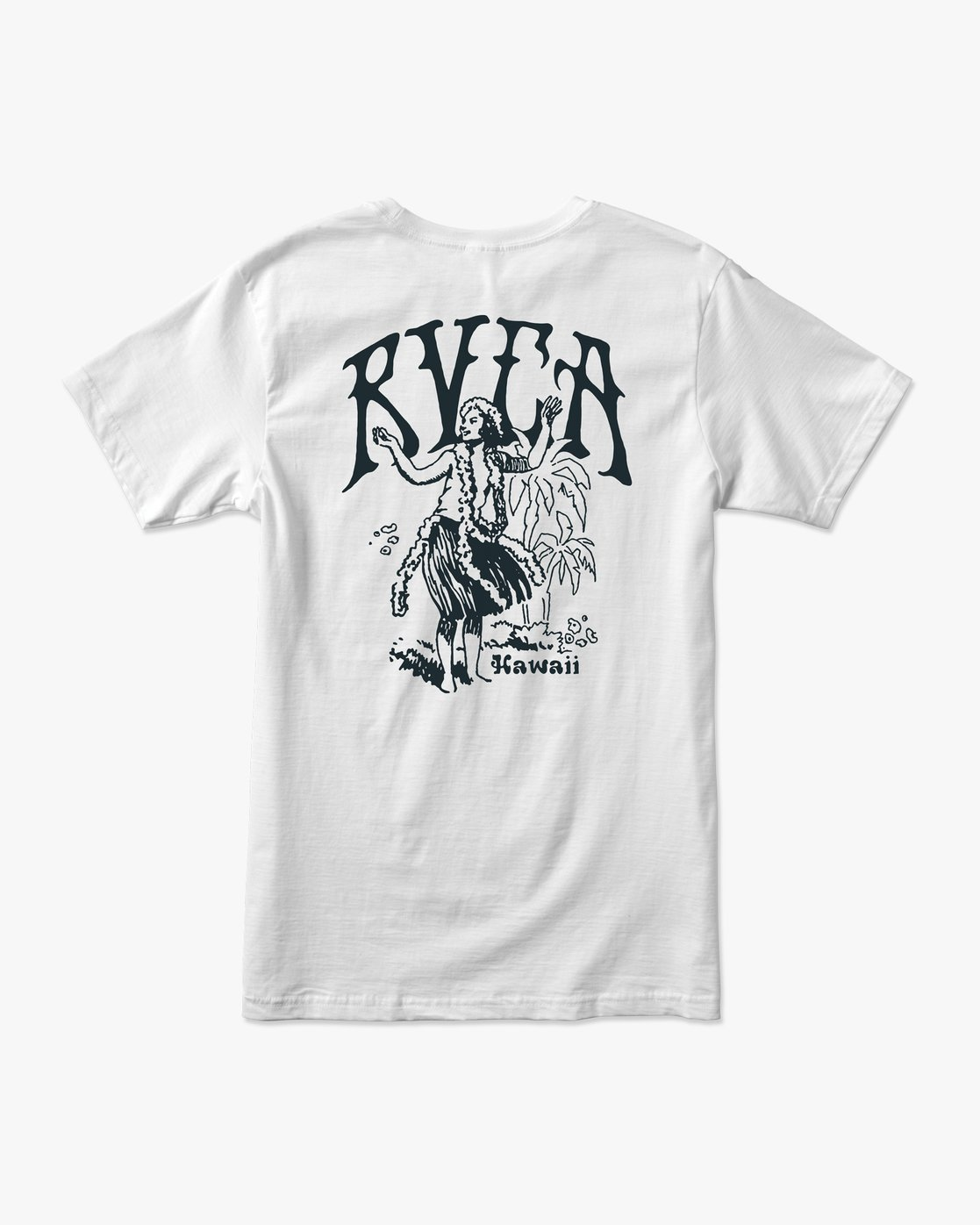 0 Ancell Hi Hula T-Shirt White M401URHH RVCA