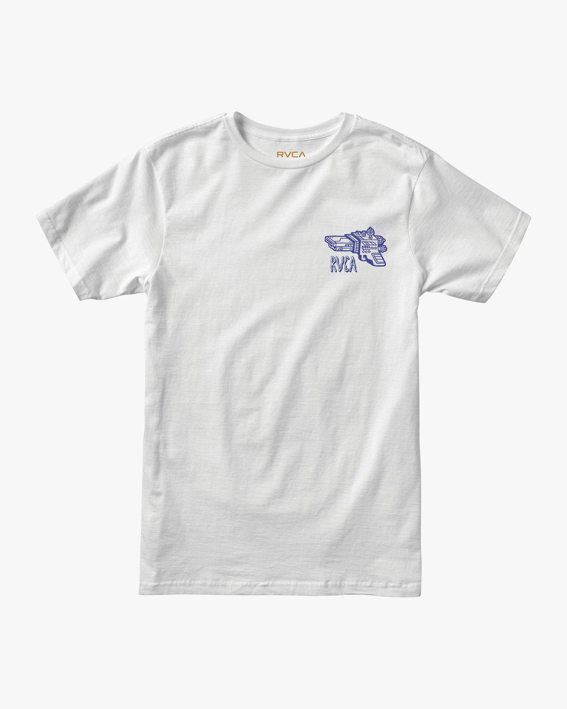 1 KLW Space Lazer T-Shirt White M401URSA RVCA