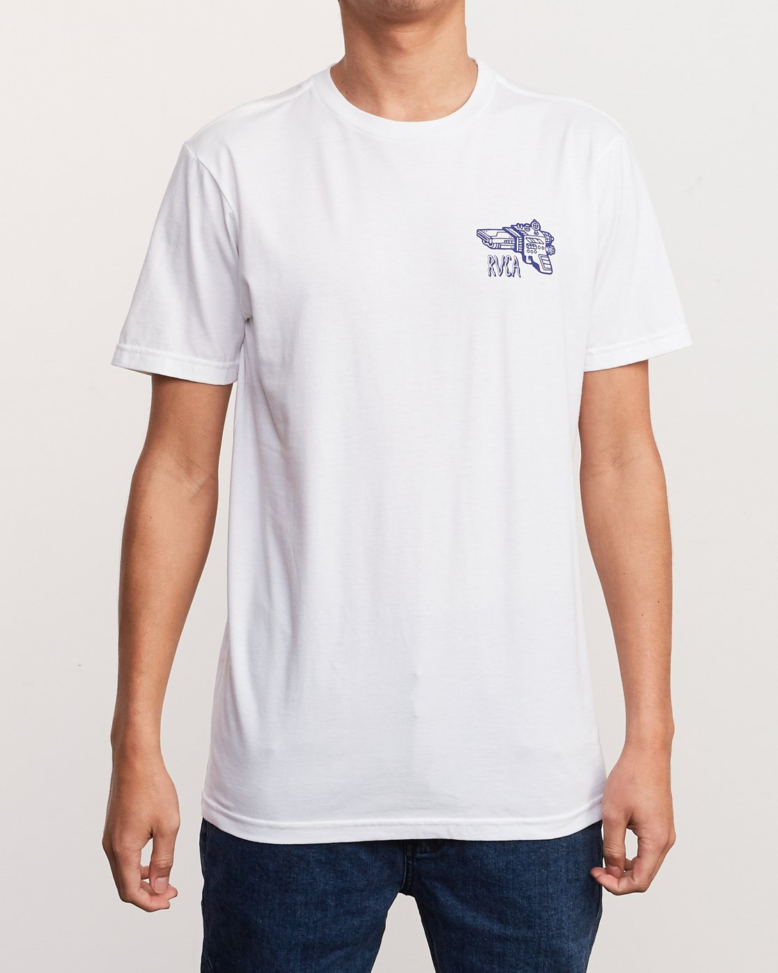 3 KLW Space Lazer T-Shirt White M401URSA RVCA