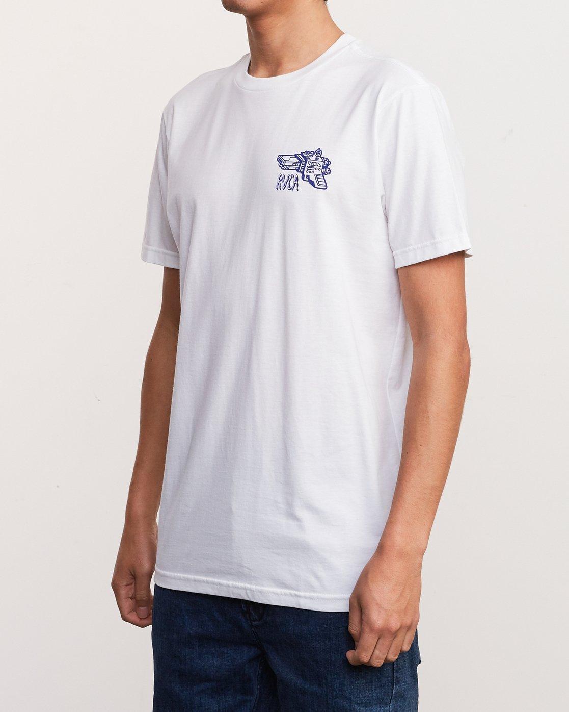 4 KLW Space Lazer T-Shirt White M401URSA RVCA