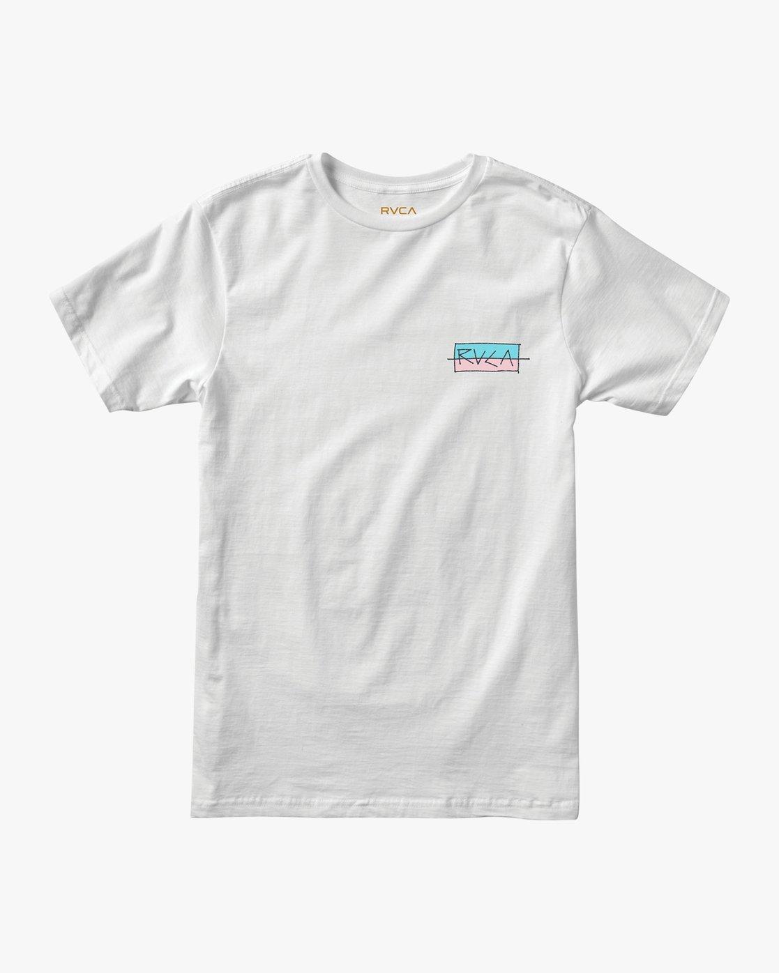 1 Split Scrawl T-Shirt White M401URSP RVCA
