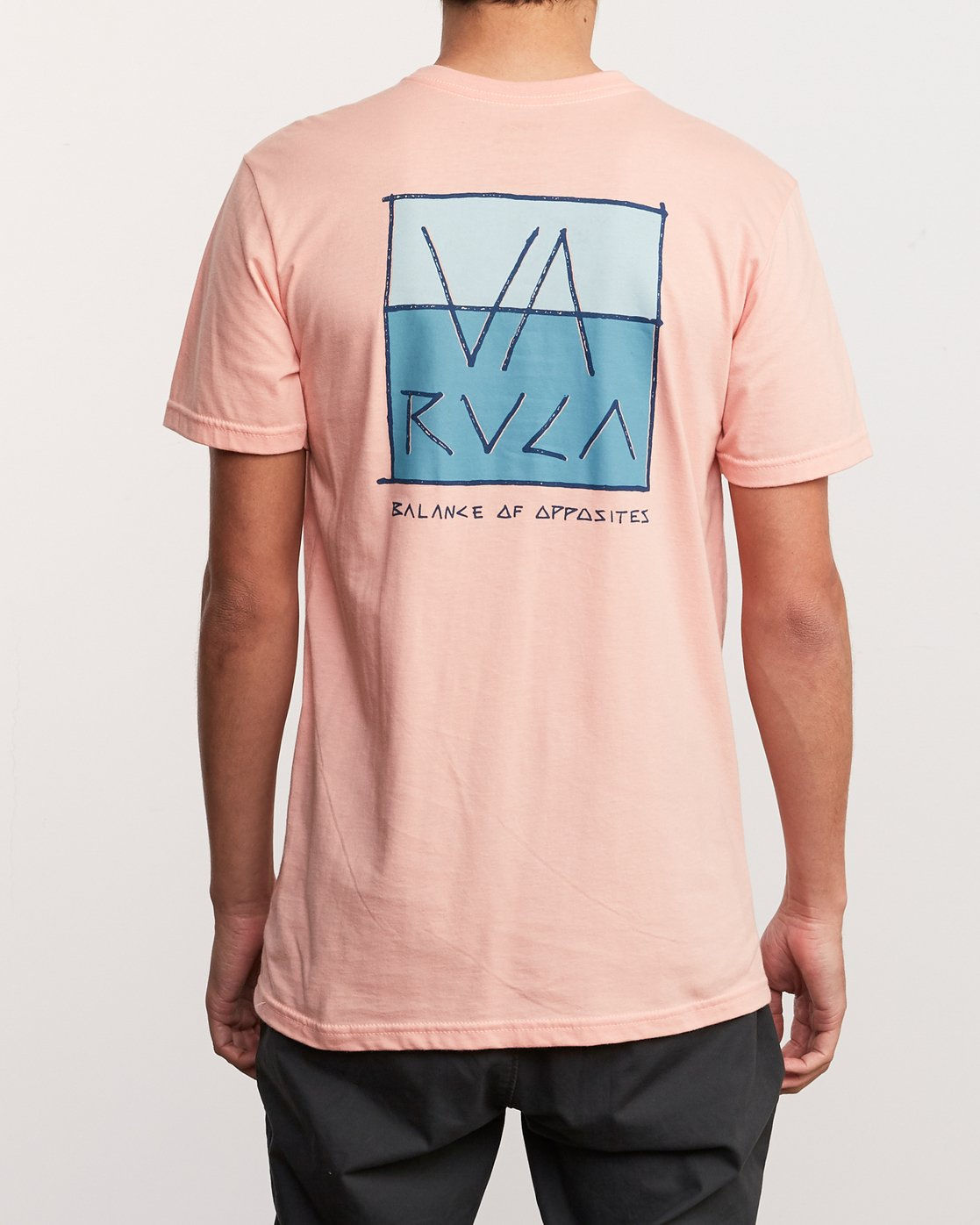 4 Split Scrawl T-Shirt Orange M401URSP RVCA