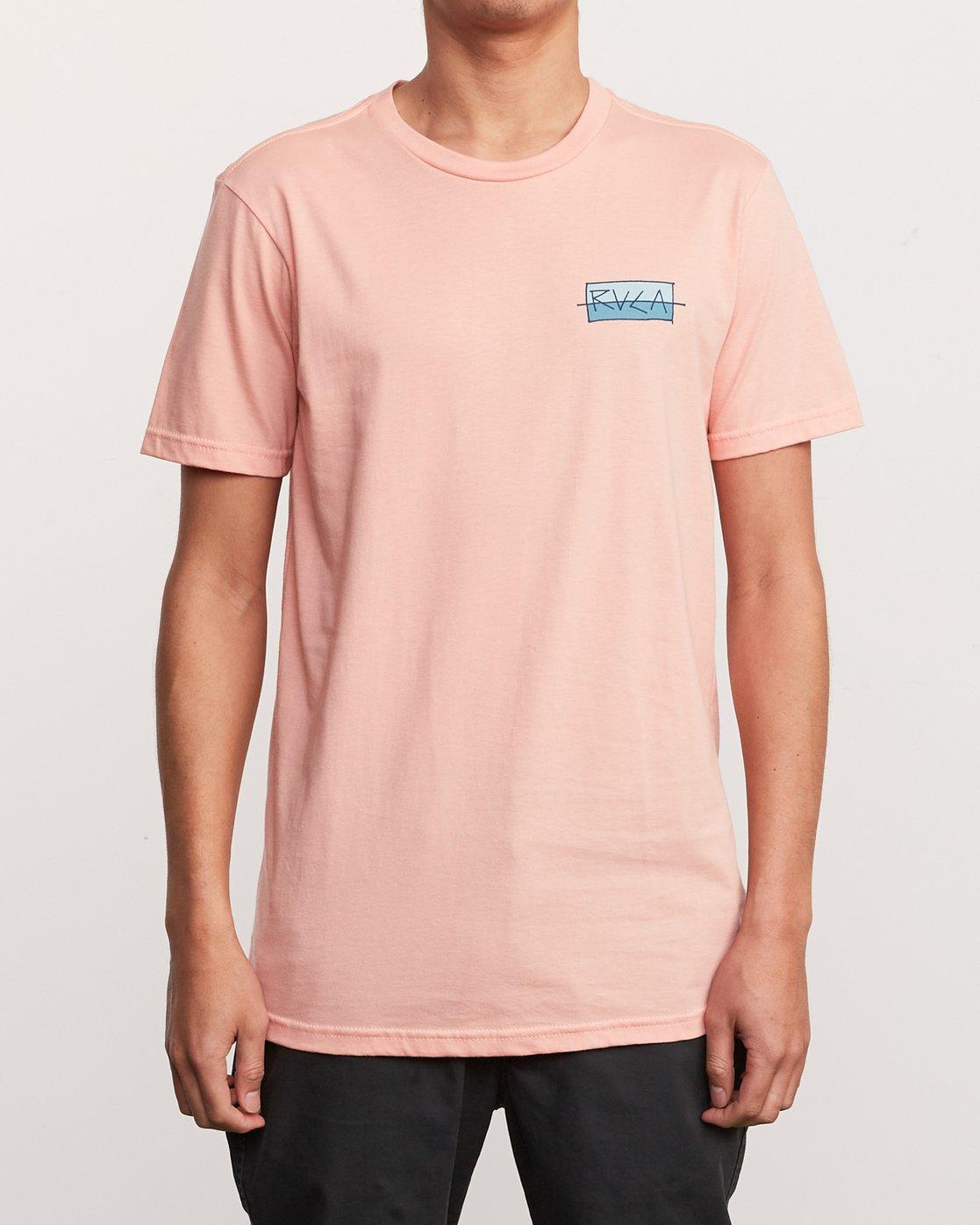 2 Split Scrawl T-Shirt Orange M401URSP RVCA