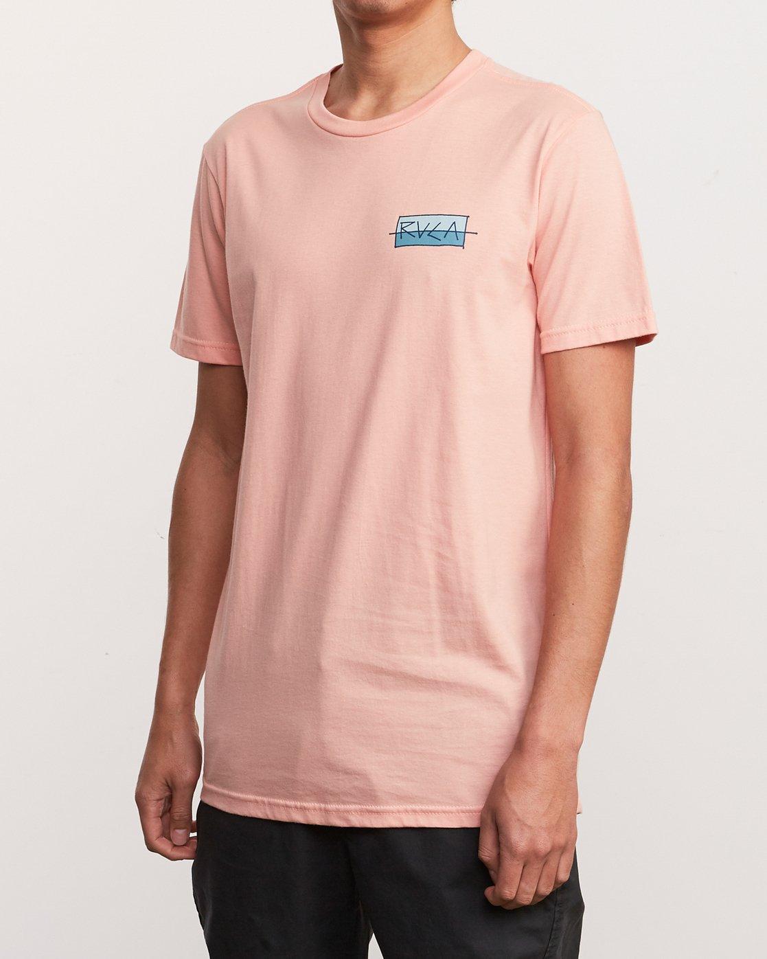 3 Split Scrawl T-Shirt Orange M401URSP RVCA