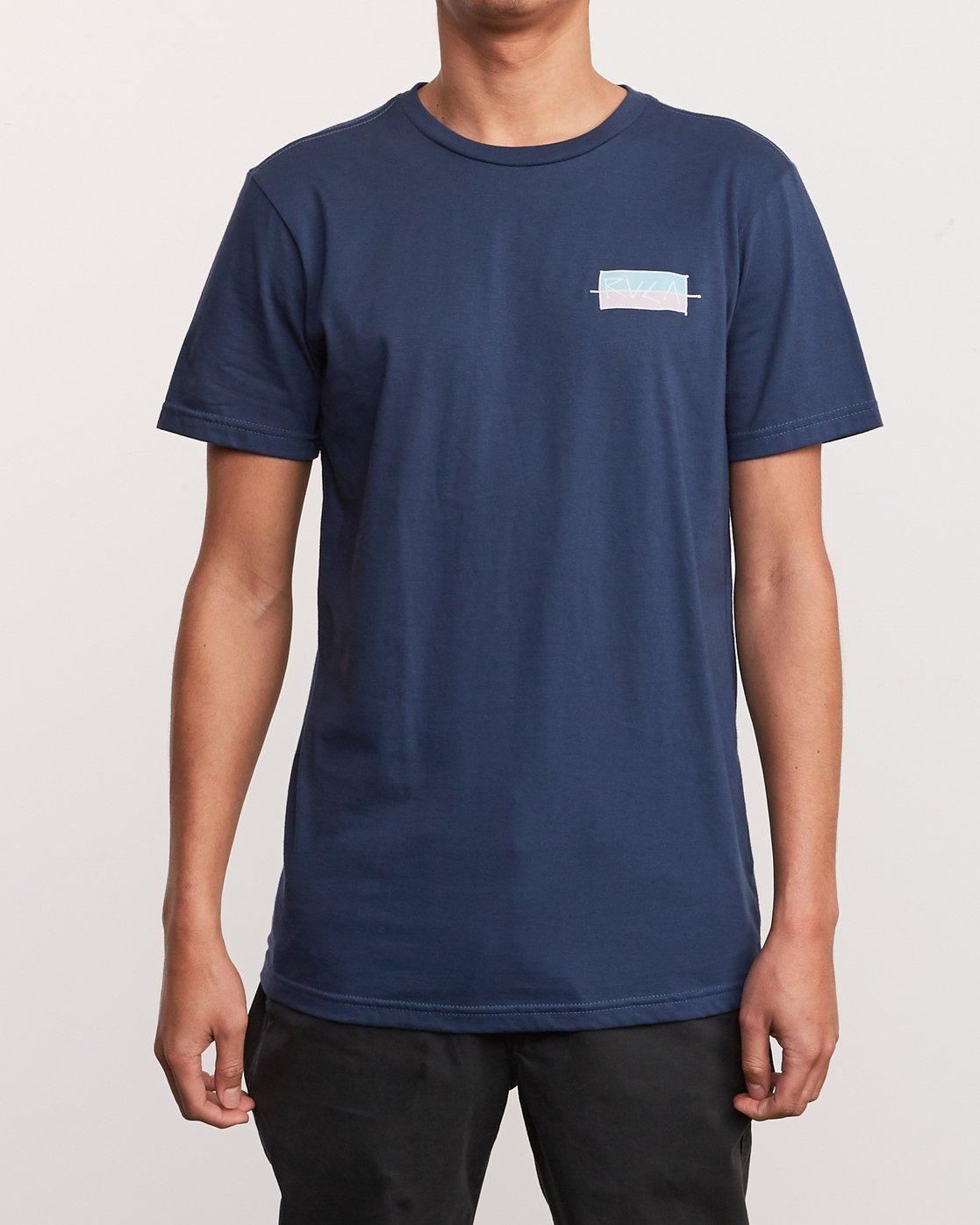 2 Split Scrawl T-Shirt Blue M401URSP RVCA