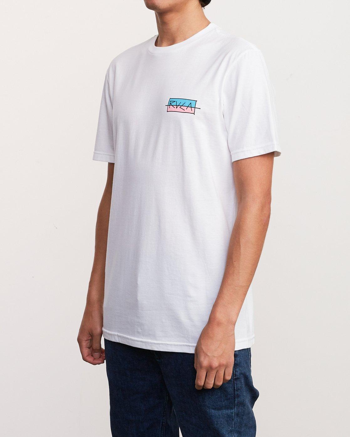 3 Split Scrawl T-Shirt White M401URSP RVCA