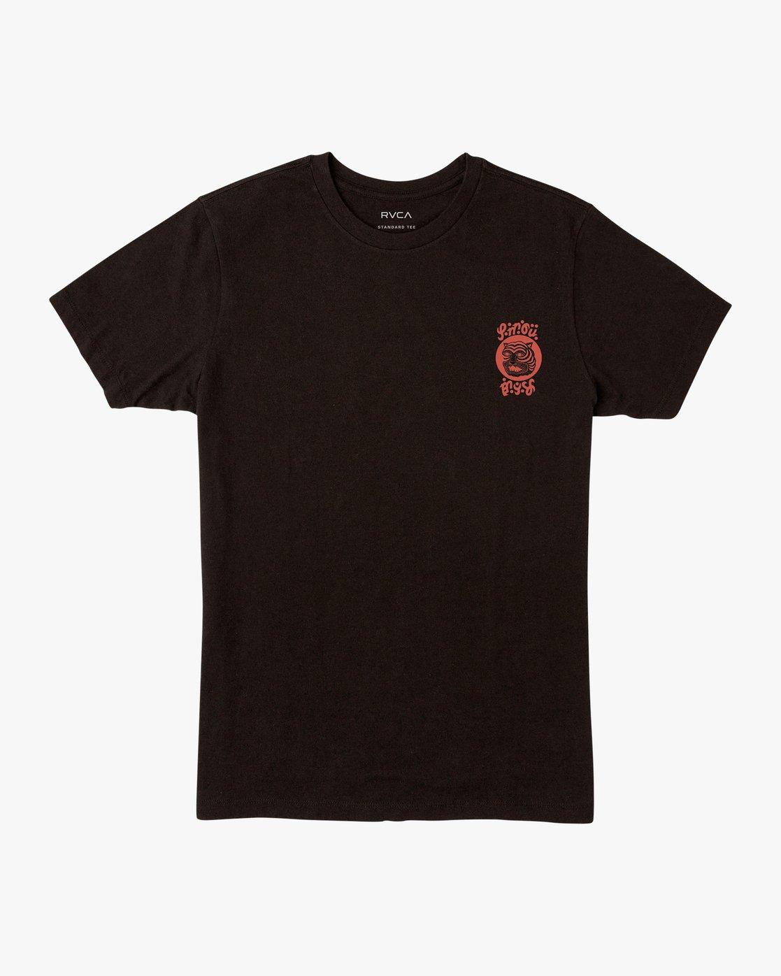 1 Lienes Bengal T-Shirt Black M401VRBE RVCA