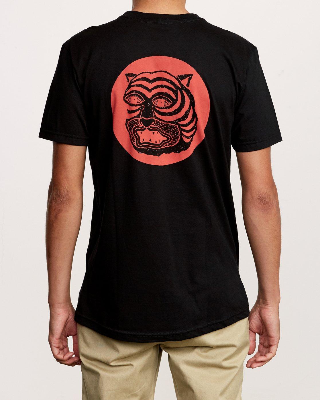4 Lienes Bengal T-Shirt Black M401VRBE RVCA