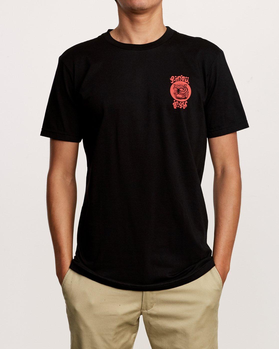 2 Lienes Bengal T-Shirt Black M401VRBE RVCA