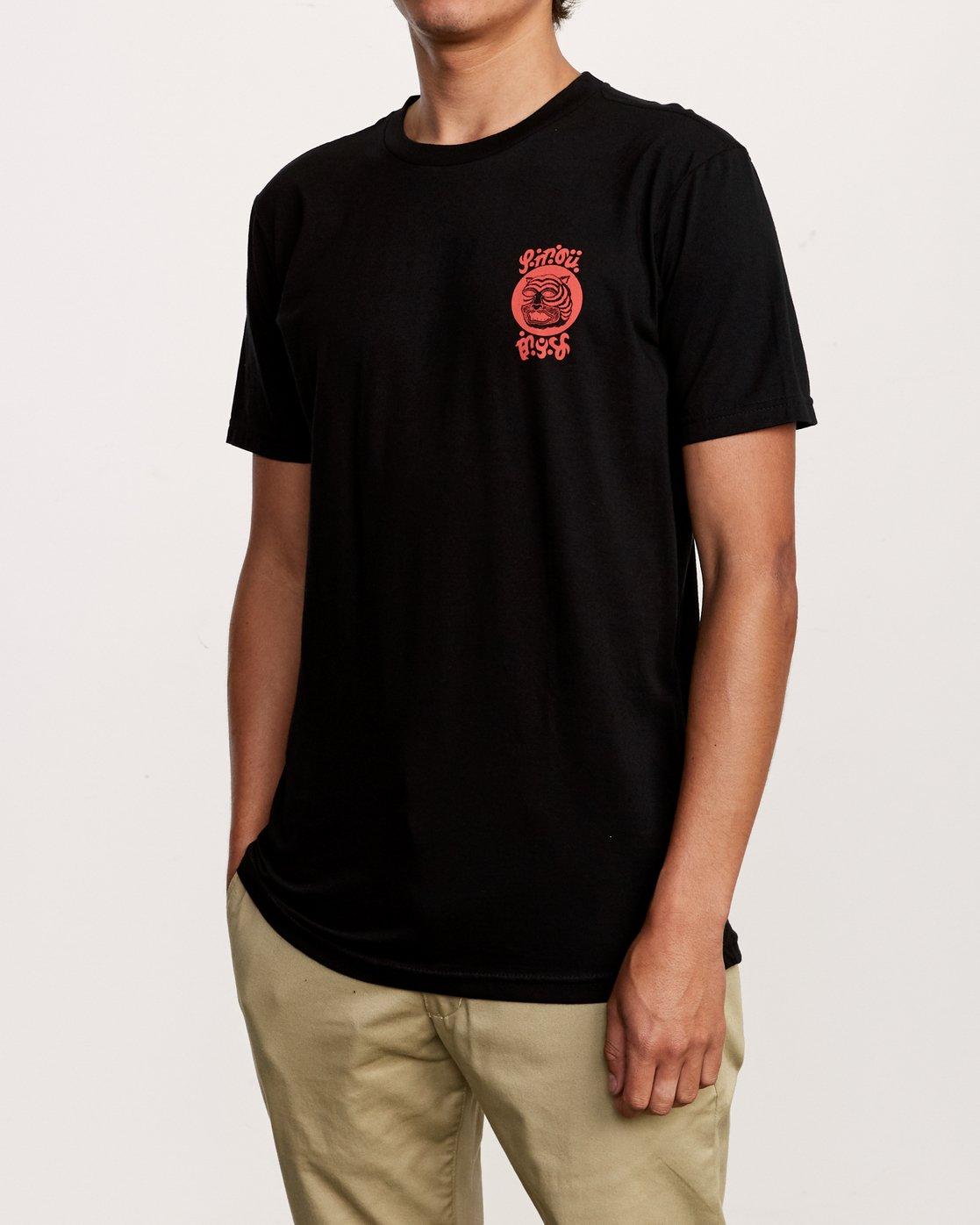 3 Lienes Bengal T-Shirt Black M401VRBE RVCA