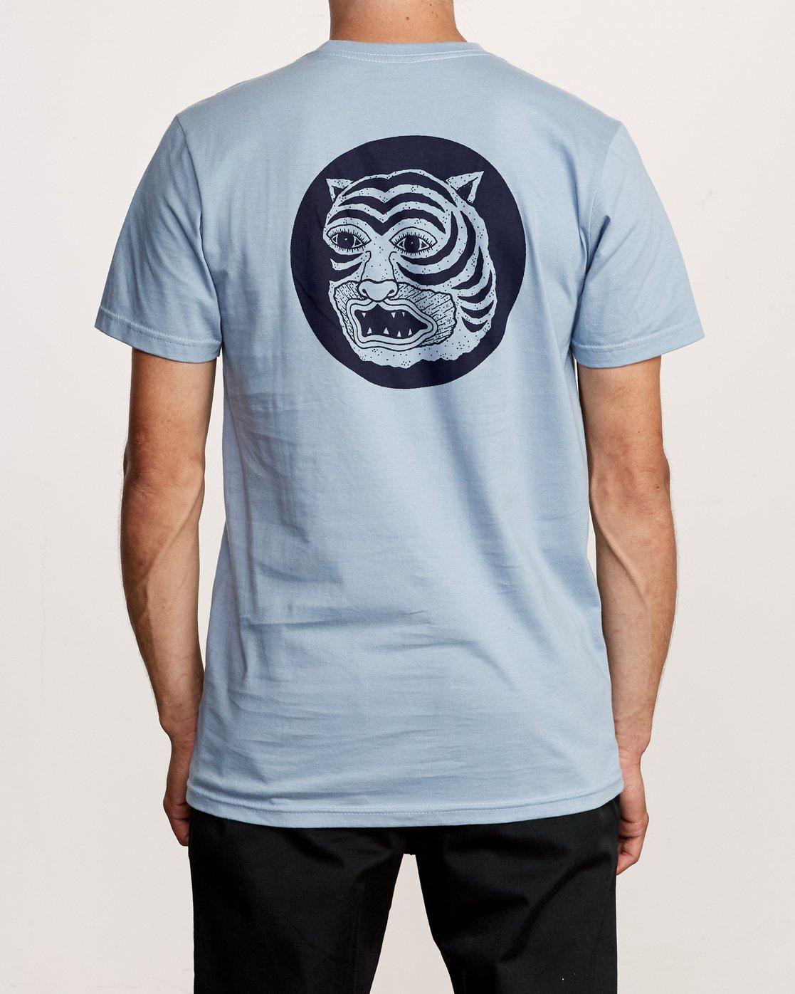 4 Lienes Bengal T-Shirt Blue M401VRBE RVCA