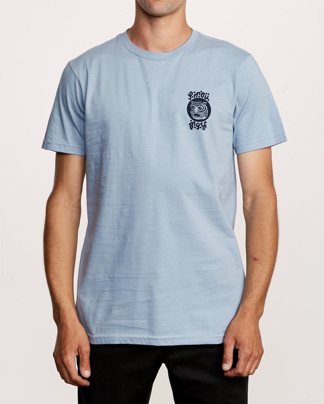 2 Lienes Bengal T-Shirt Blue M401VRBE RVCA