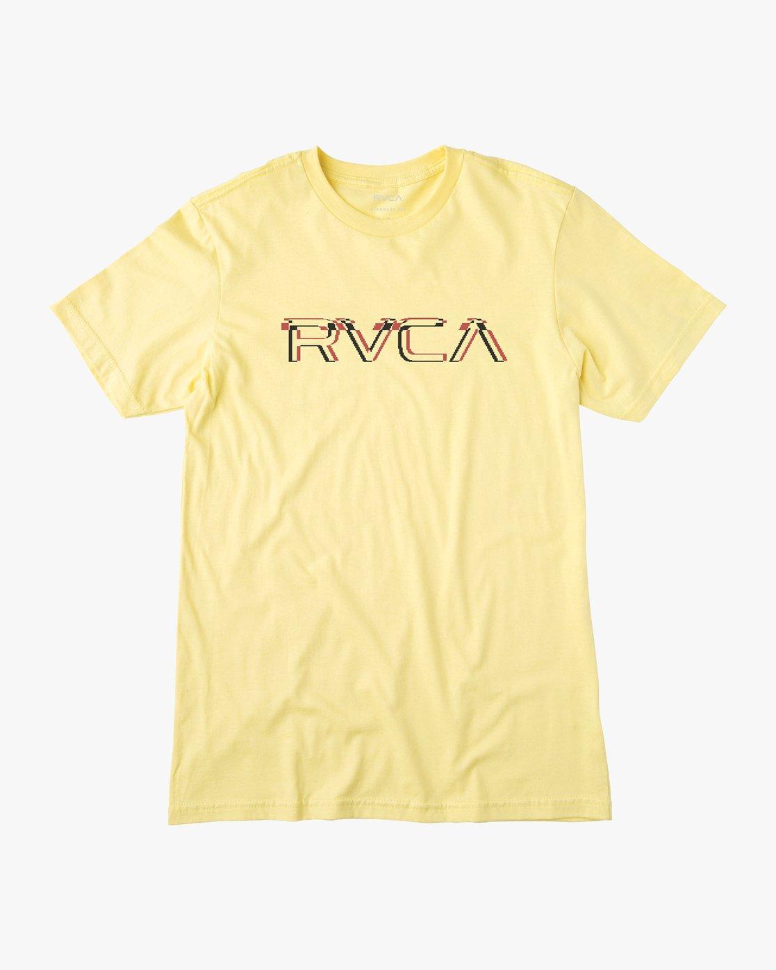 0 Big Glitch T-Shirt Yellow M401VRBG RVCA