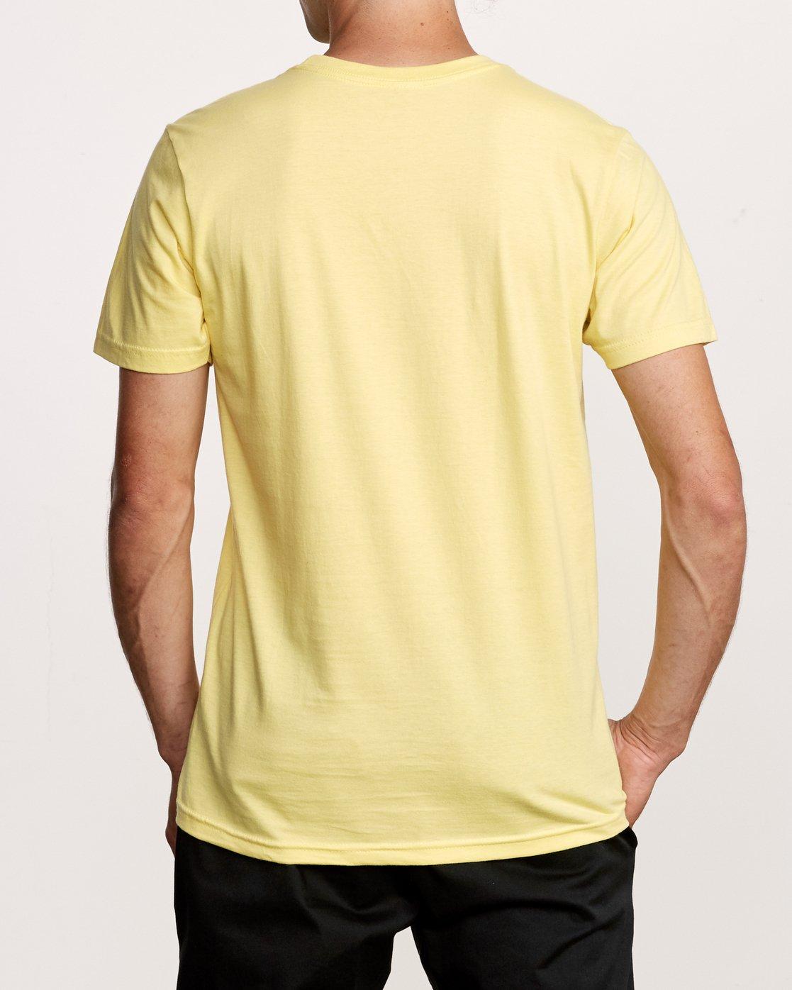 3 Big Glitch T-Shirt Yellow M401VRBG RVCA