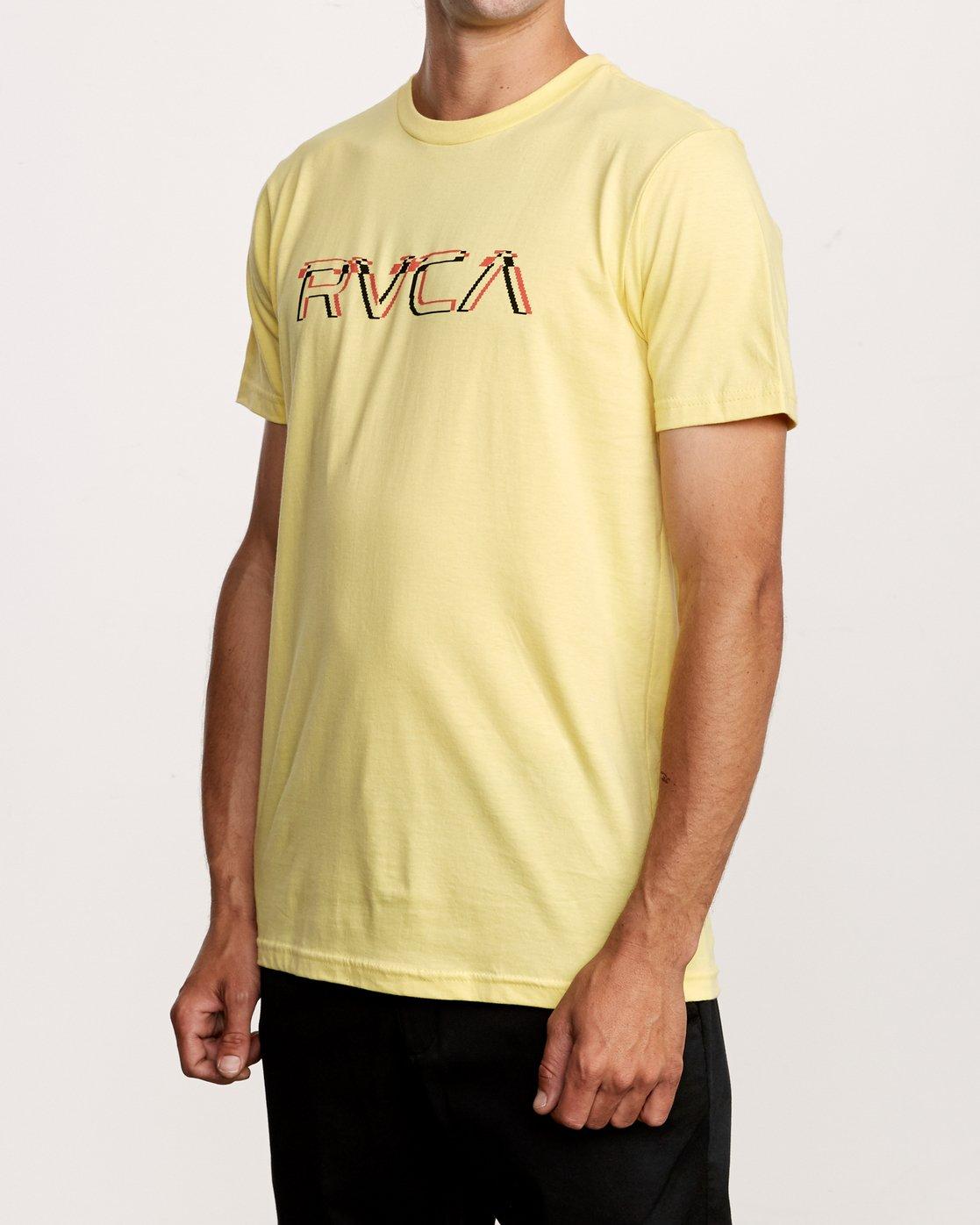 2 Big Glitch T-Shirt Yellow M401VRBG RVCA