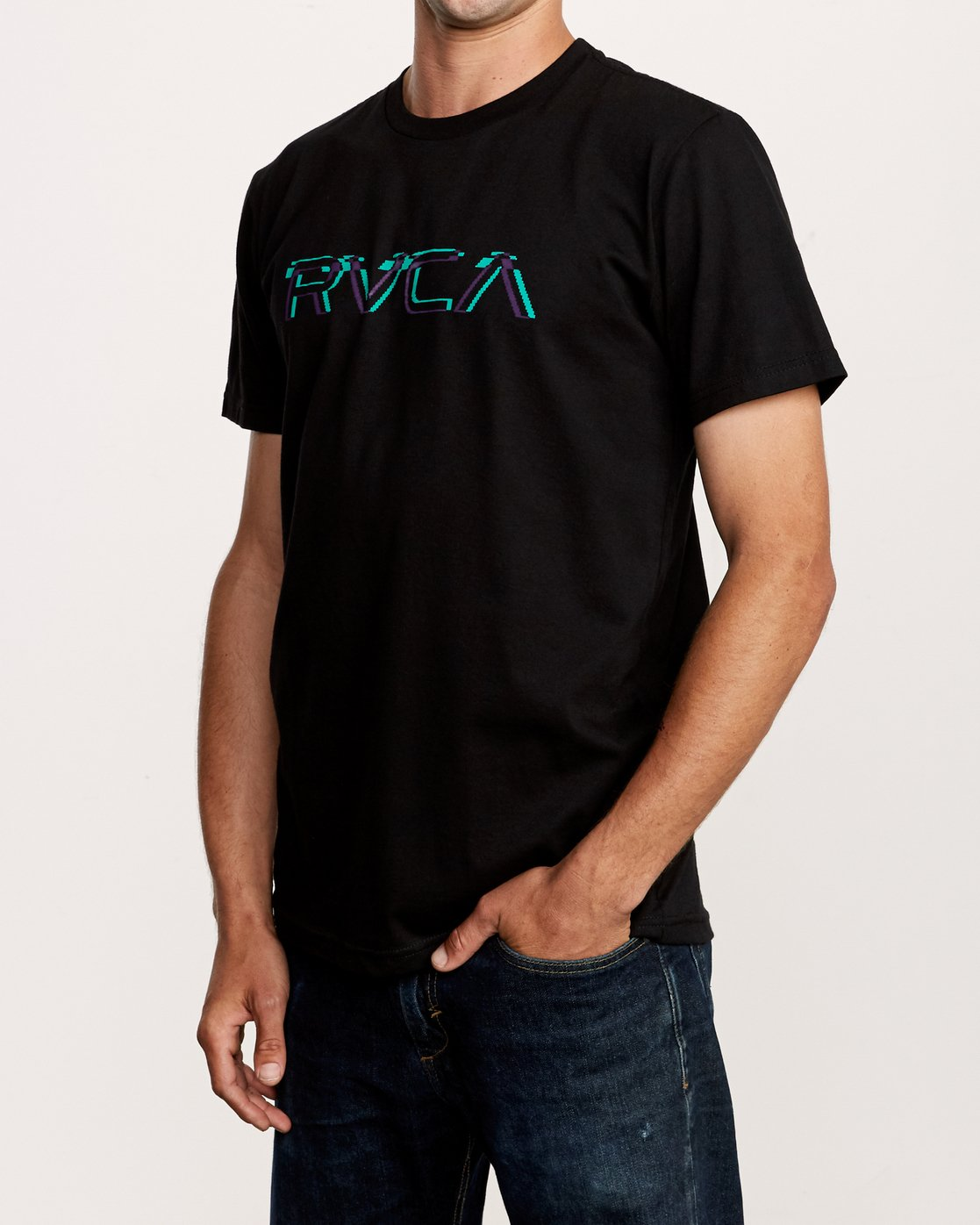 3 Big Glitch TEE Black M401VRBG RVCA
