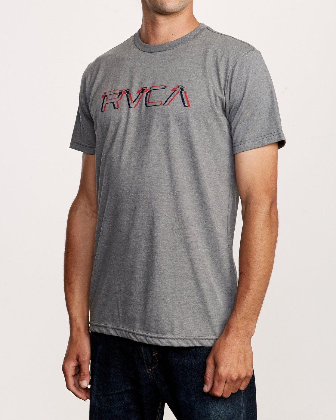 2 Big Glitch T-Shirt Grey M401VRBG RVCA