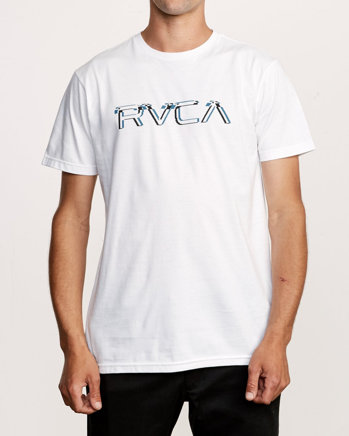 1 Big Glitch T-Shirt White M401VRBG RVCA