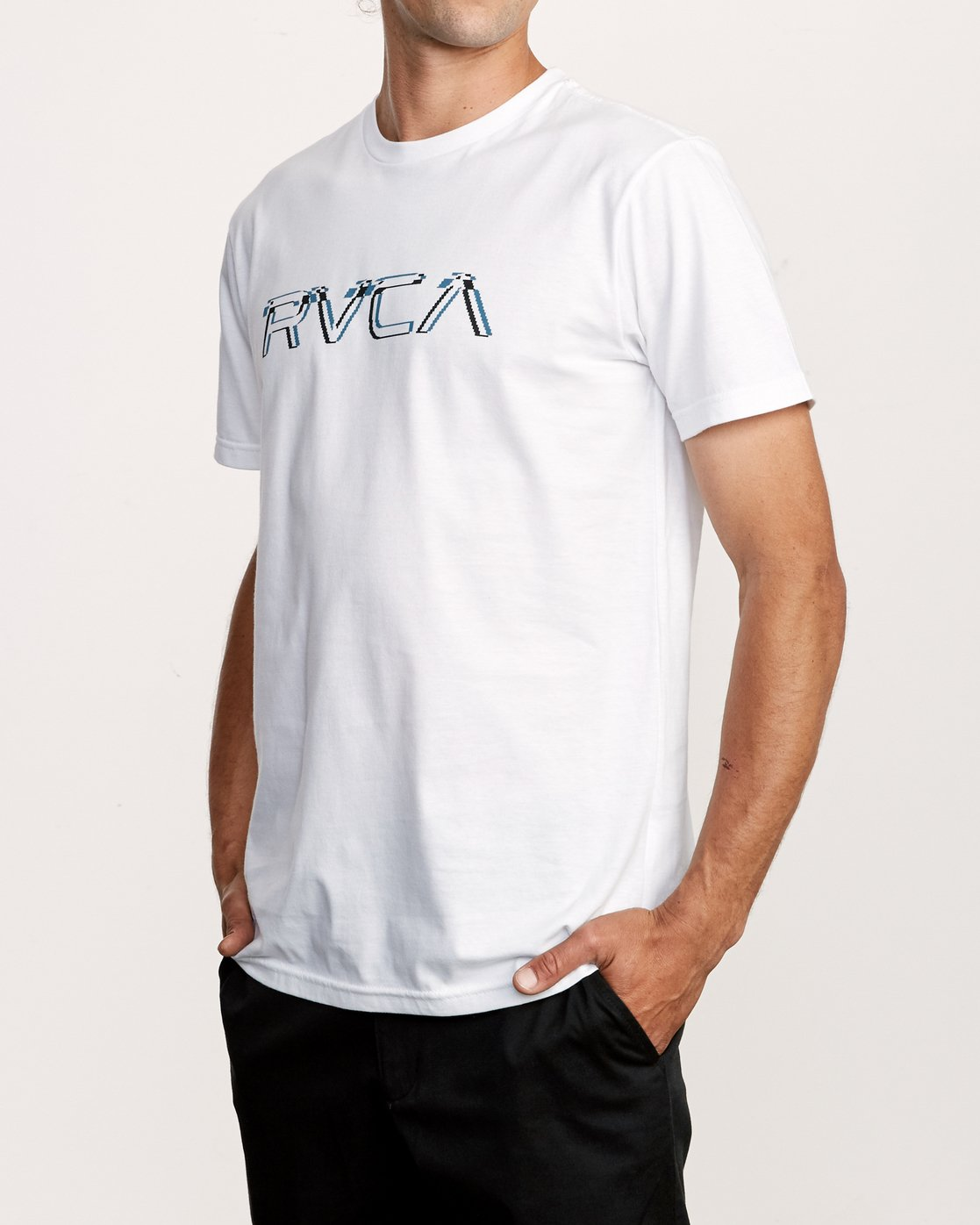 3 Big Glitch TEE White M401VRBG RVCA