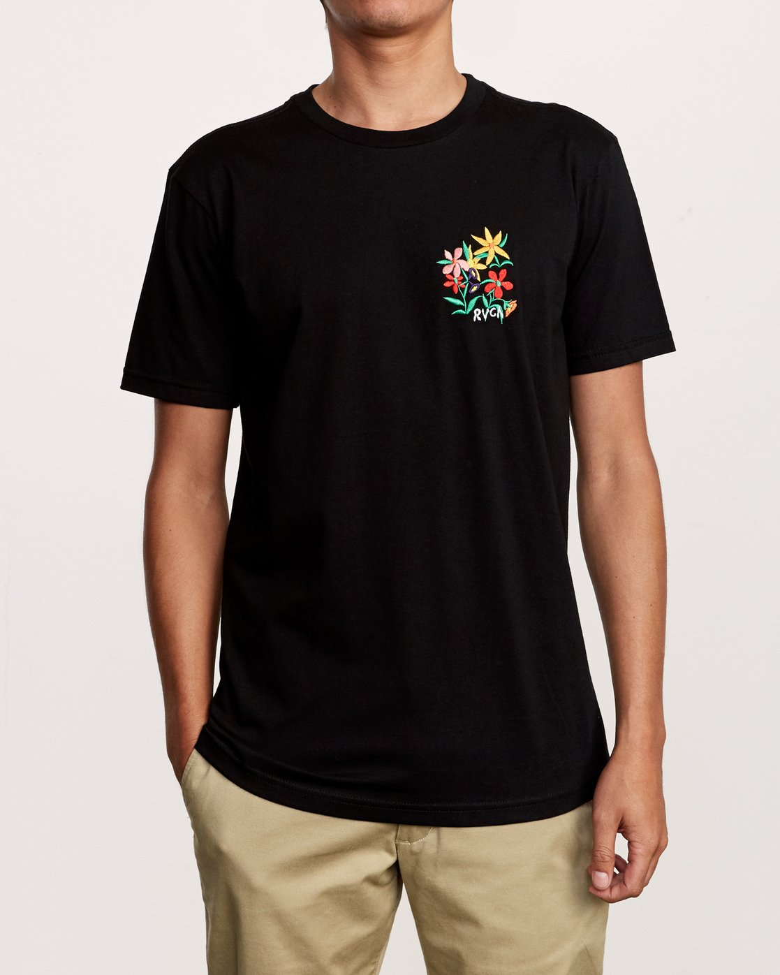 1 Grisancich Bouquet T-Shirt Black M401VRBO RVCA