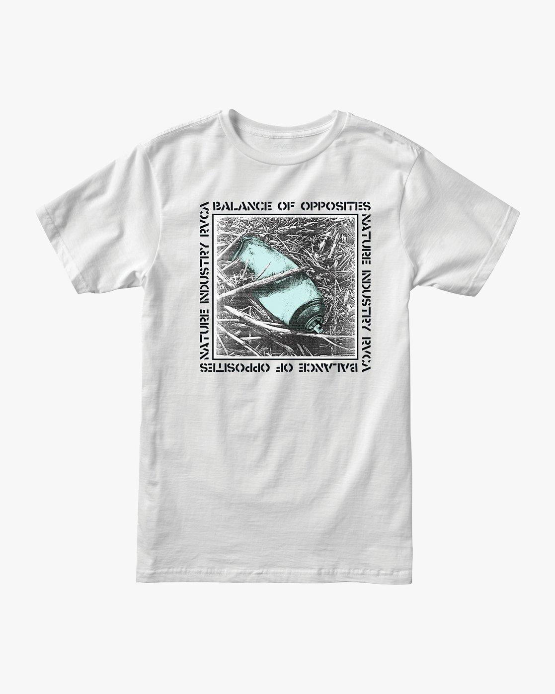 0 Crushed Nature T-Shirt White M401VRCN RVCA