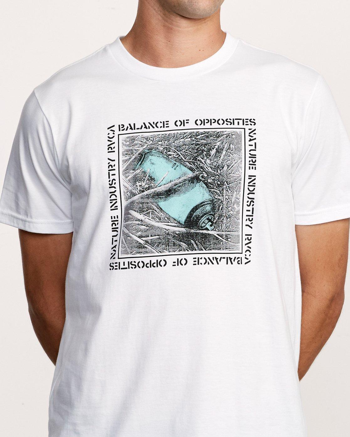 4 Crushed Nature T-Shirt White M401VRCN RVCA
