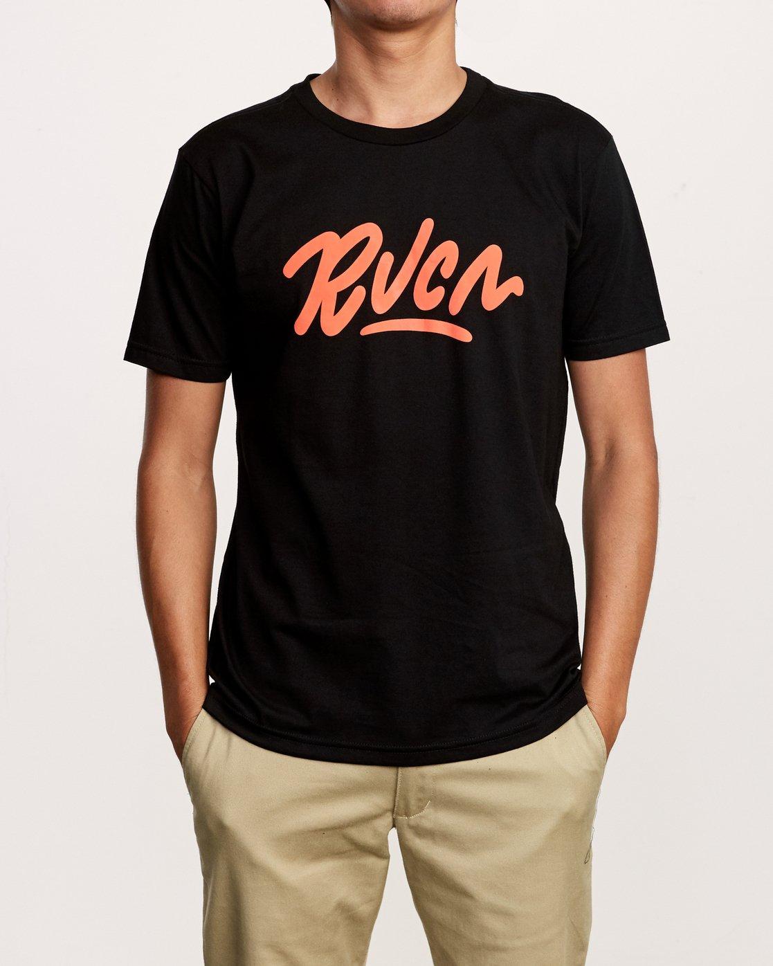 1 Flow T-Shirt Black M401VRFL RVCA
