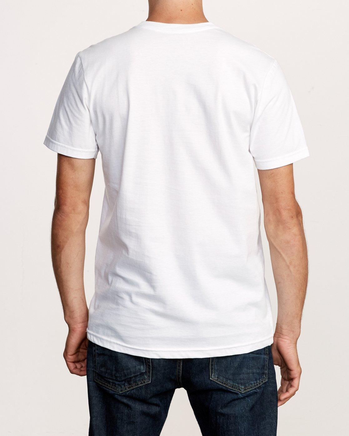 3 Flow T-Shirt White M401VRFL RVCA