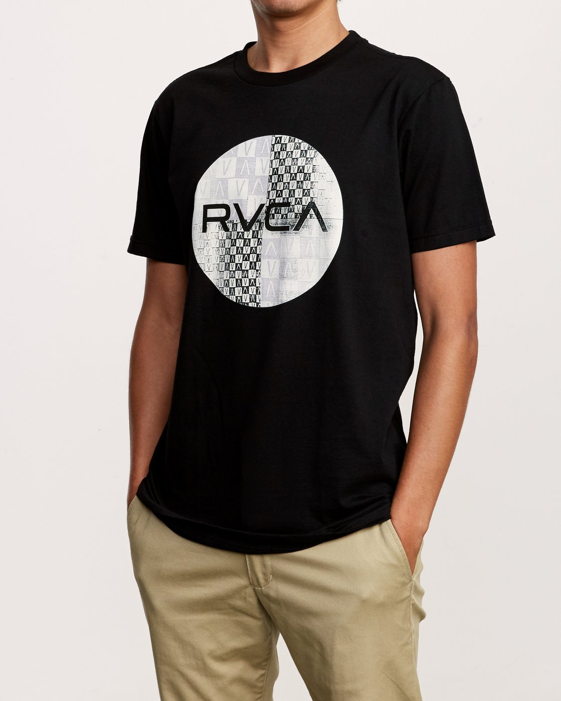 2 Motors Mix T-Shirt Black M401VRMO RVCA