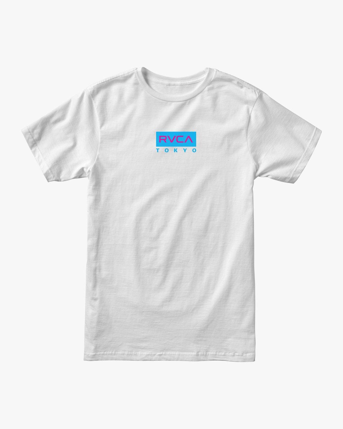0 RVCA Tokyo T-Shirt White M401VRRT RVCA