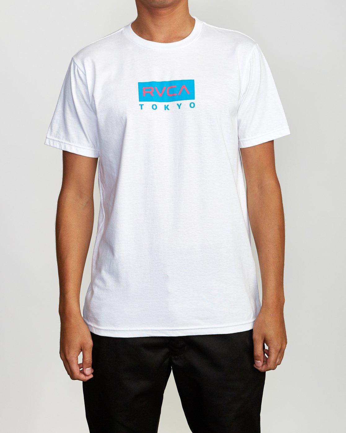 2 RVCA Tokyo T-Shirt White M401VRRT RVCA
